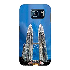 HomeSoGood Petronas Twin Towers Blue 3D Mobile Case For Samsung S6 ( Back Cover)