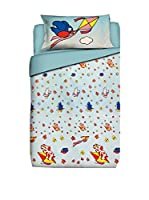 FUNNY BED by MANIFATTURE COTONIERE Juego De Funda Nórdica (Cielo/Multicolor)