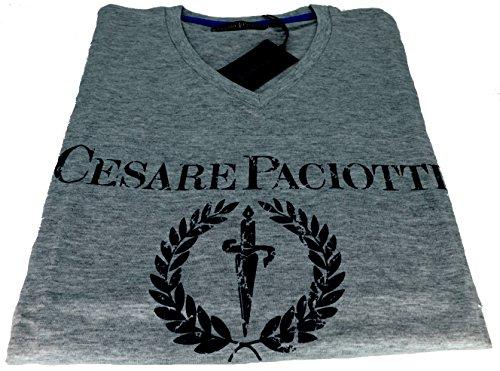 Polo Maniche Corte Uomo Cesare PaciottI t-shirt Men Short Sleeves CP07TS#1-CESARE PACIOTTI-Grigio-XL