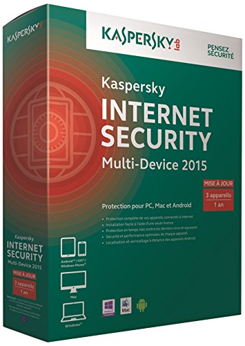 Kaspersky internet security multi-device 2015 – Mise à jour (3 postes, 1 an)