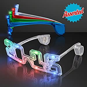 Light Up 2016 LED Sunglasses for New Year's Eve