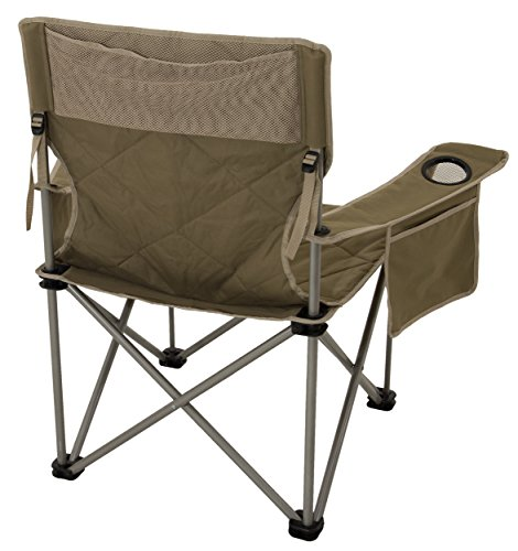 Outdoor Folding Chair Camping For Big Man Shoulder Carry Bag Khaki Sports Cha