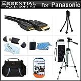 Essential Accessory Kit For Panasonic HC-X920, HC-V720, HC-V520, HC-V210, HC-V110, HC-X900M, HC-X900, HC-X800, HC-V750K, HC-V550K, HC-V250K, HC-V130K, HC-W850K Camcorder Includes 50