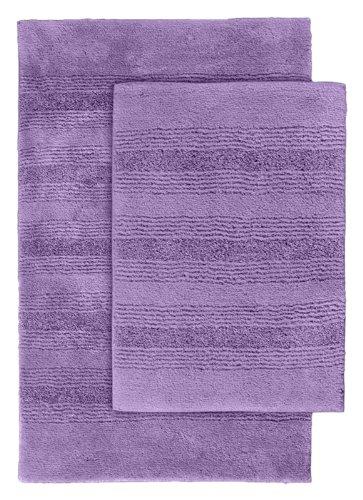 Garland Rug 2-Piece Essence Nylon Washable Bathroom Rug Set, Purple front-354613