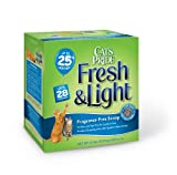 Cat's Pride Fresh and Light Fragrance Free Premium Clumping Cat Litter Box, 21-Pound