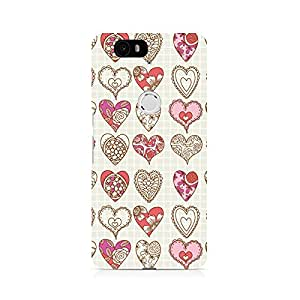 Motivatebox- So Many Hearts Premium Printed Case For Huawei Nexus 6P -Matte Polycarbonate 3D Hard case Mobile Cell Phone Protective BACK CASE COVER. Hard Shockproof Scratch-