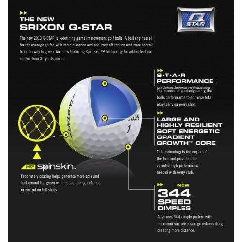 【US仕様】スリクソン Q-STAR ゴルフボール (12個入) TOUR YELLOW