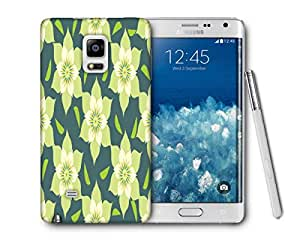 Snoogg Yellow Floral Printed Protective Phone Back Case Cover For Samsung Galaxy NOTE EDGE