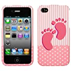 IPHONE 4 4S AT&t SPRINT VERIZON C-SPIRE BABY GIRL 3D RUBBERIZED SNAP ON COVER CASE - PERFECT FIT