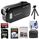 Bell & Howell Slice2 DV7HD 1080p HD Slim Video Camera Camcorder (Black) with 16GB Card + Case + Flex Tripod + Kit