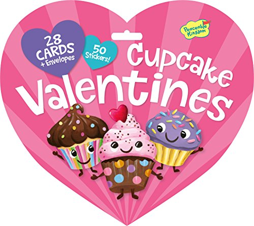 Peaceable Kingdom / Valentine Heart Pack Cupcake Cards & Stickers - 1