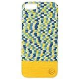 【日本正規代理店品】Man&Wood iPhone5S/5ケース 天然木 Harmony Yellow Submarine ホワイトフレーム バータイプ I1464i5