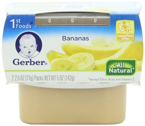 Gerber 1st Foods Bananas, 2-Count, 2.5-Ounce Tubs (Pack of 8) (Banana Baby Food Gerber compare prices)
