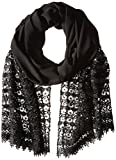 La Fiorentina Women's Crochet Evening Wrap with Sequins