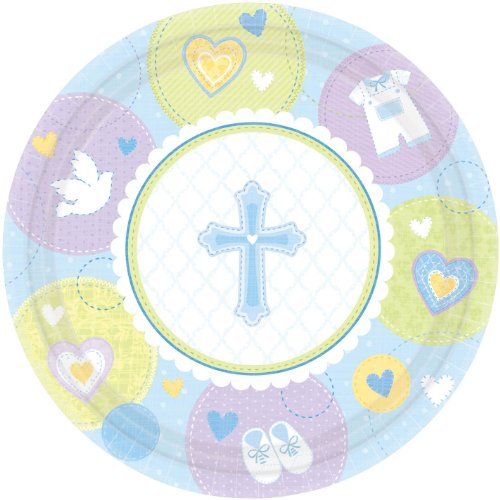 Sweet Blessing Blue Dinner Plates