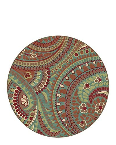 Universal Rugs Deco Indoor/Outdoor Round Transitional Area Rug