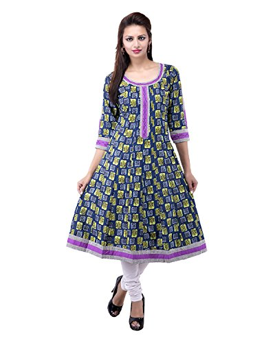 Rash Collection Women's Cotton Round Neck Kurti - B00X3TLZUO
