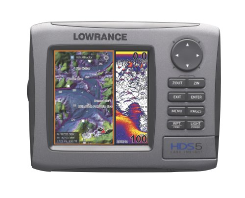 Lowrance HDS-5 5-Inch Waterproof Marine GPS and Chartplotter with Sounder
