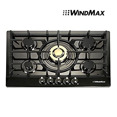 WindMax Euro Style Golden Burner Built-In-5 stoves Natural Gas Cootop