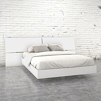 Nexera Acapella 2 Piece Queen Bedroom Set in White Melamine Finish