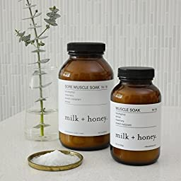 milk + honey Bath Soak (Eucalyptus Arnica Rosemary & Sweet Marjoram, 20.5 oz)