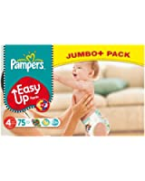 Pampers Easy Ups Size 4 (Maxi) jumbo plus pack - 75 Nappies