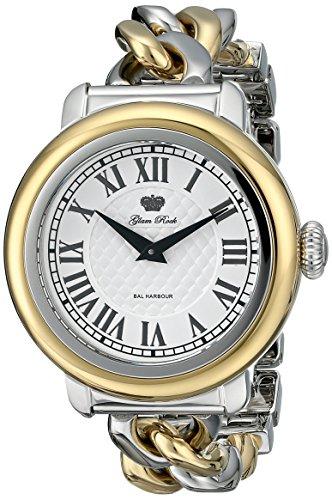 De las mujeres de Glam Rock GR77043 analógico de cuarzo suizo de visualización de Bal Harbour reloj de dos tonos