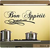 Bon Appetit Wall Decal Sticker Art Mural Home Decor Quote