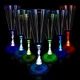 光るLEDシャンパングラス 7.5オンス ワンランク上のお酒に♪ 光るカクテルグラス