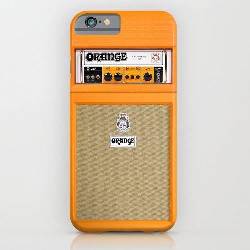 iPhone6ケース society6(ソサエシティシックス) Retro Orange guitar electric amp amplifierデザイナーズiPhoneケース