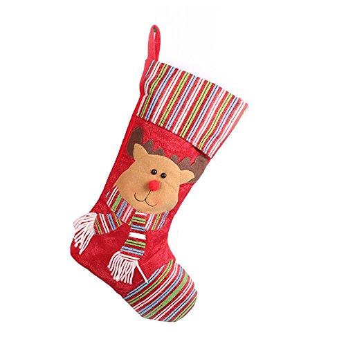 joowen Christmas stockings Set of 2Santa, Reindeer Character 3d Classical Toys Stockings, Reindeer, taglia unica