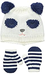 Carters Baby-Girls Knit Panda Bear Set, Blue, 0-9 Months