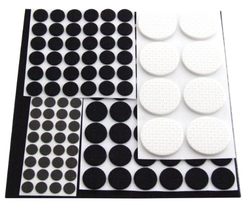 Am-Tech 125 Stück Floor Protector Furniture Pads, S5325