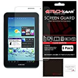[5 Pack] TECHGEAR® Samsung Galaxy Tab 2 7.0 P3100 with Wifi & P3110 (7 inch) CLEAR LCD Screen Protector Covers With Cleaning Cloth & Application Card