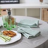 Tablecloth Black Striped Linen Jazz