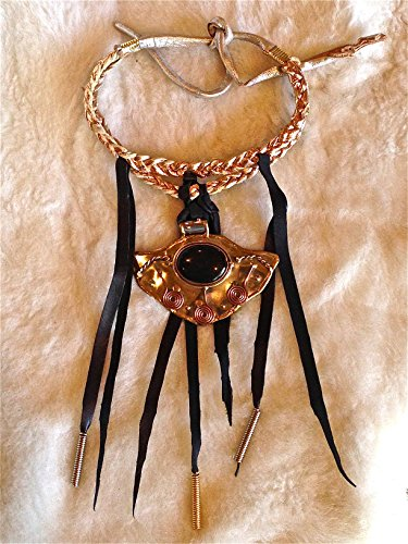 moboixs-modelo-tribal-collar-babero-de-piel-negra-y-de-color-cobre-con-una-placa-de-la-india-y-abalo