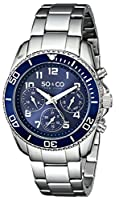 """SO&CO New York Men's 5029.2 """"Yacht Club"""" Stainless Steel Watch with Link Bracelet from SO&CO MFG"""