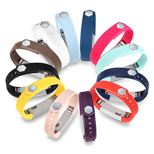 GinCoband-12PCS-Fitbit-Alta-Accessory-Replacement-Bands-with-Clasp-For-Fitbit-Alta-Sport-Arm-Band-No-tracker