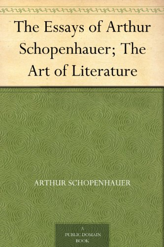 essays of schopenhauer amazon Visit amazoncom's arthur schopenhauer store and shop for all arthur schopenhauer books and other arthur schopenhauer related products (dvd, cd, apparel) check out pictures, bibliography, biography and community discussions about arthur schopenhauer.