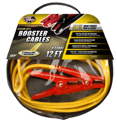 Coleman Cable 08467 Jumper Cable Bag with 12-Feet 8-Gauge Cables