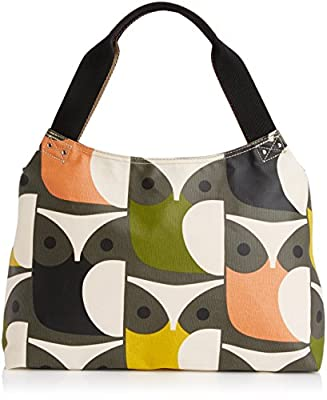 Orla Kiely Big Owl Print Classic Zip Shoulder Bag
