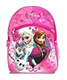 Disney Frozen Elsa & Anna Olaf Large 16 Backpack Pink Glitery with Frozen Hot Pink Trifold Wallet