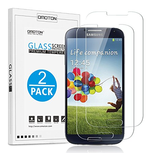 2-Pack-Galaxy-S4-Screen-Protector-OMOTON-Tempered-Glass-Screen-Protector-with-9H-Hardness-Ultra-Clarity-Anti-Scratch-No-Bubble-Installation-for-Galaxy-S4-Lifetime-Warranty