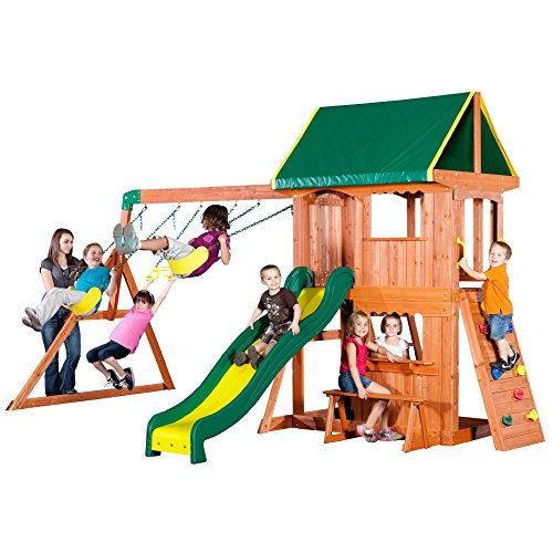 Cheapest Price! Backyard Discovery Somerset All Cedar Wood Playset Swing Set