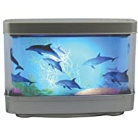 Aquarium Lamp with Dolphins Ocean in Motion Revolving Aquatic Scene