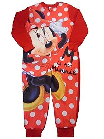 Disney Combinaison Pyjama Disney Minnie Mouse tout en un polaire