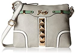 Gussaci Italy Women's Handbag (Light Grey) (GC311)