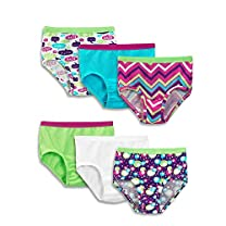 Fruit of the Loom Girls' 6 Pack Wardrobe Brief