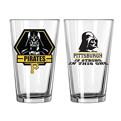 MLB Unisex MLB Star Wars Clear Pint 2-Pack