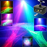 New Mini R&G Laser Patterns Aurora Water Galaxy Sky Effect Full Color RGB LED Disco KTV Coffee Shop DJ Home Party Xmas Bar Dance Stage Light T34 (Color: black)
